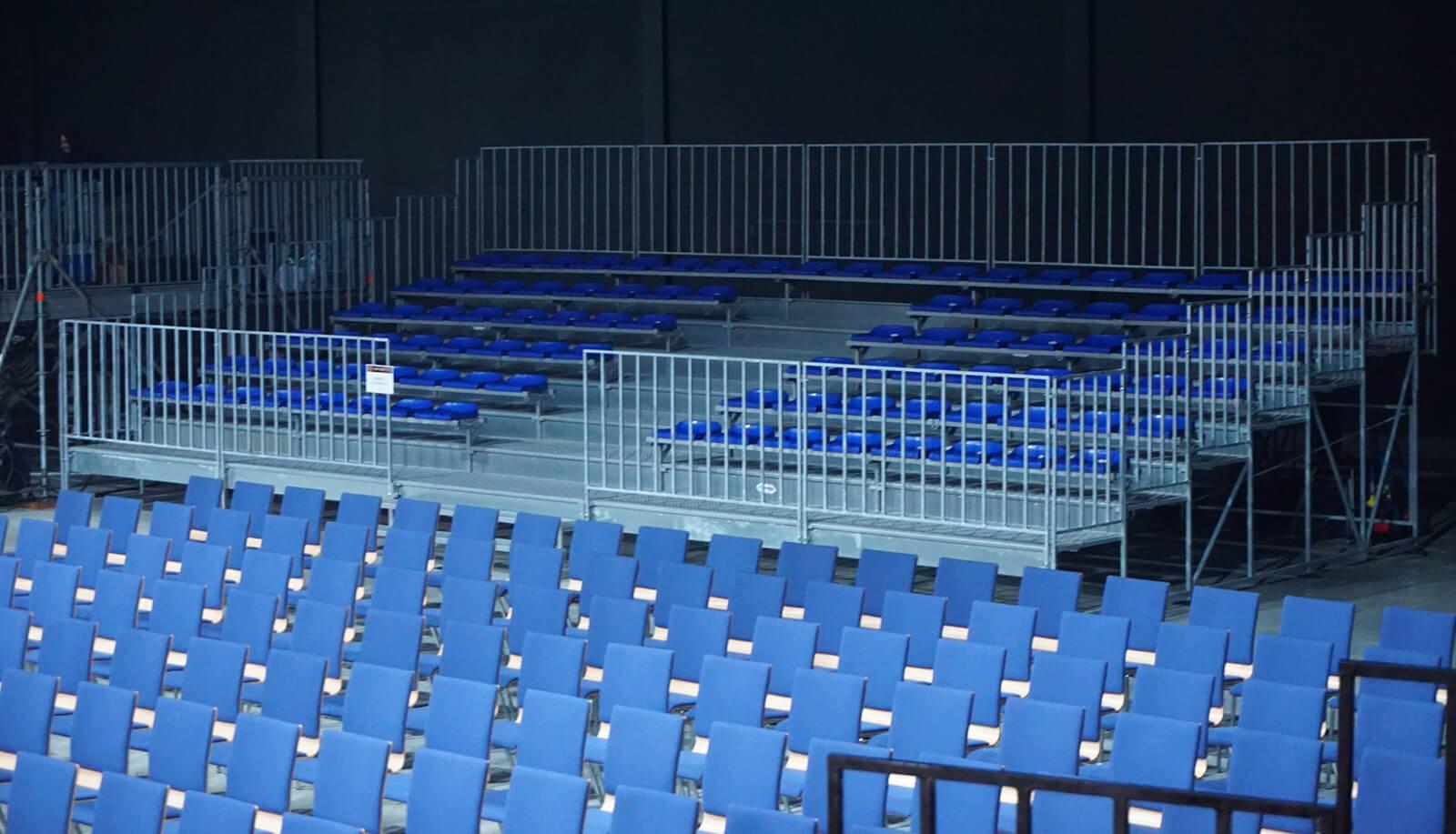 Montaż trybun sportowych Symphoethnic 2019 Katowice