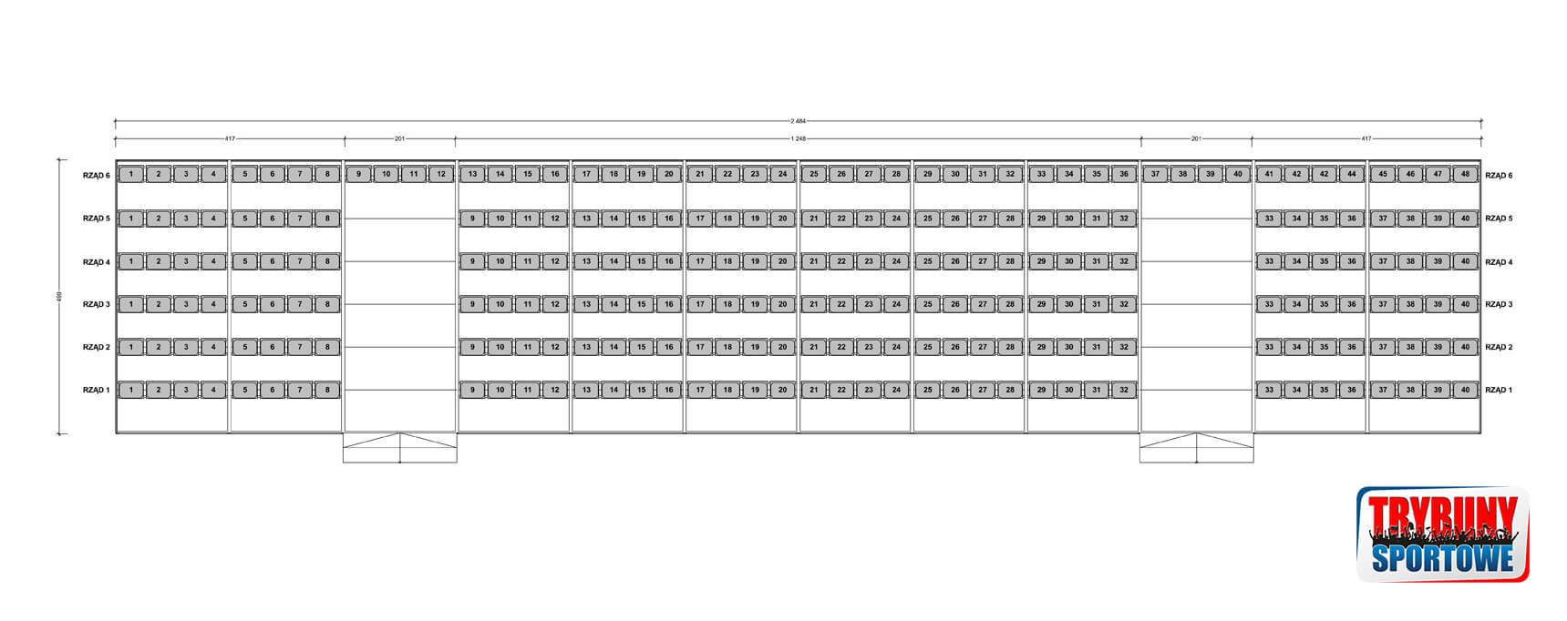 Trybuny modułowe na wynajem - Trybuny-Sportowe-pl