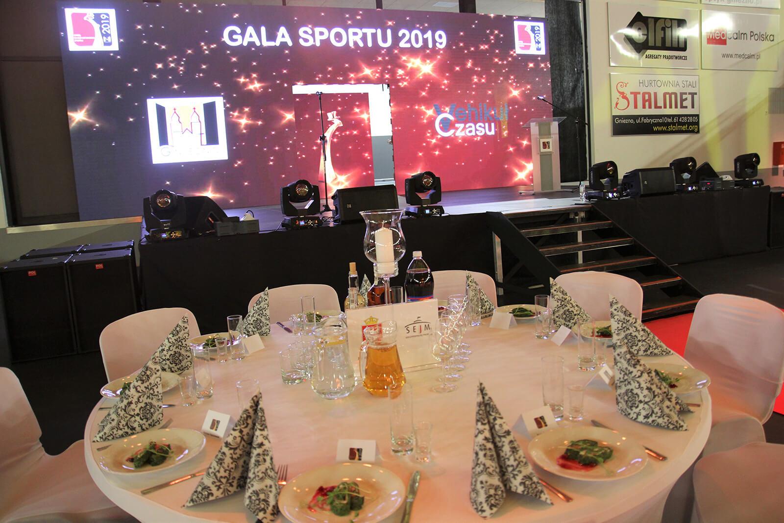 Akcesoria eventowe - Gala Orłów Gnieźnieńskiego Sportu 2020